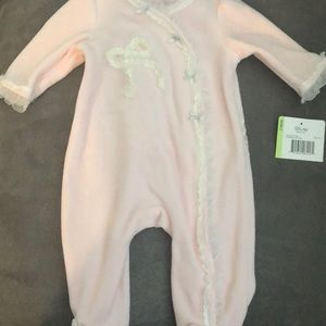 Little me velour onesie